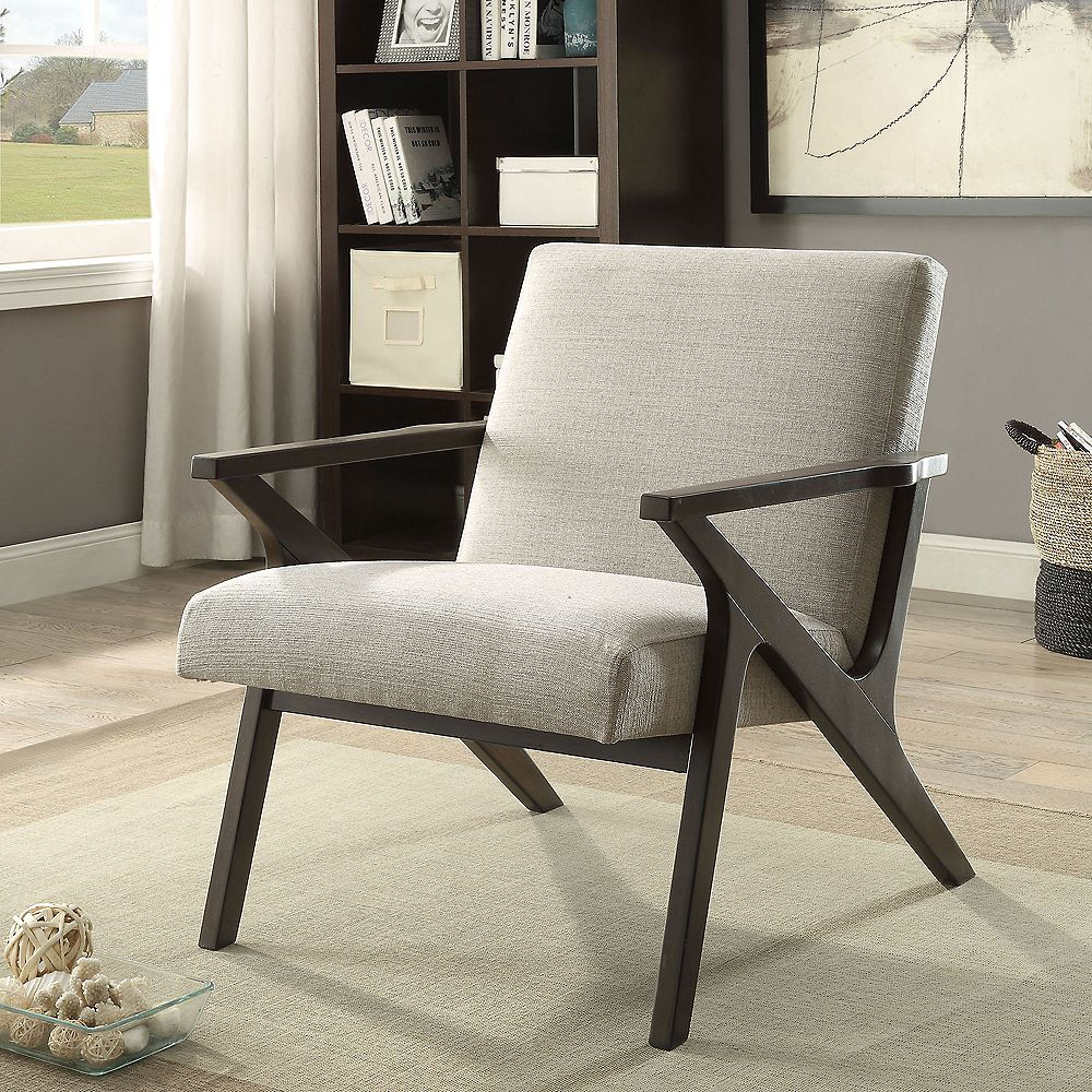 !nspire Beso Contemporary Occasional Accent Chair in Beige with Solid Pattern