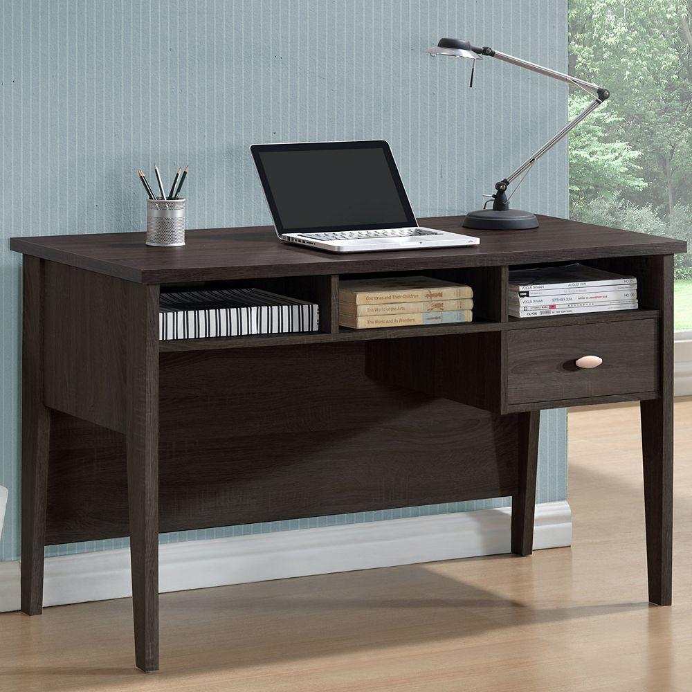 Corliving Folio 47-inch x 30-inch x 23-inch Standard Computer Desk in Black