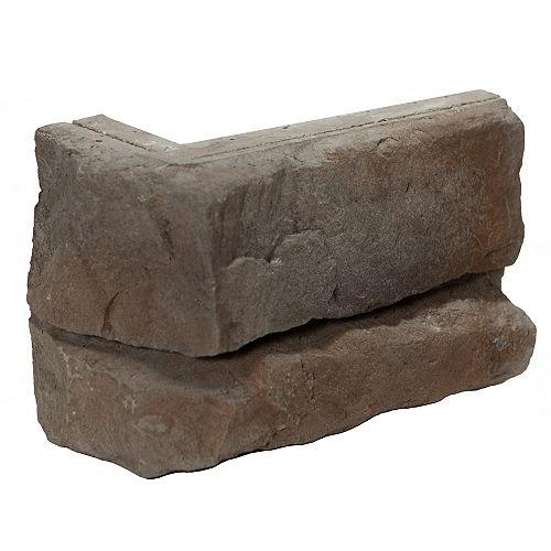 Fusion Stone Great Lakes Corner Stone Veneer - Raven (5-Linear Feet)
