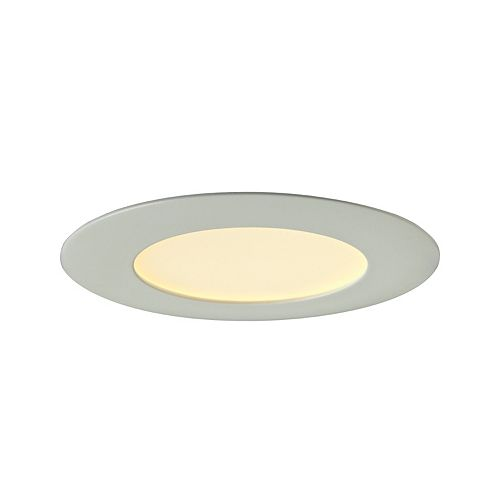4-inch Integrated LED Retrofit Recessed Round Panel Light Fixture in White - ENERGY STAR