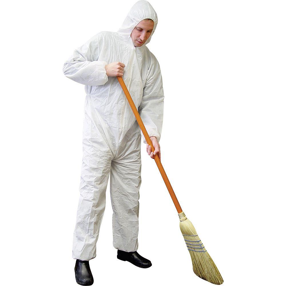 Workhorse White Polypropylene Disposable Coveralls - 2XL