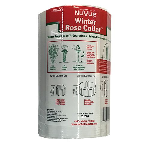 Winter Rose Bush Collars (3-Pack)