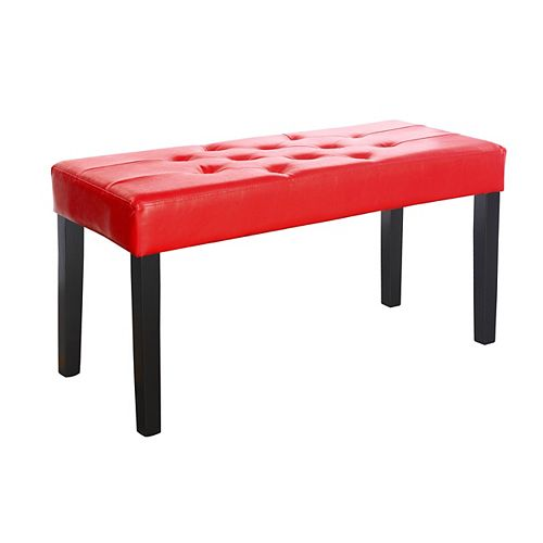 Corliving Fresno 35-inch x 19-inch x 15-inch Solid Wood Frame Bench in Red