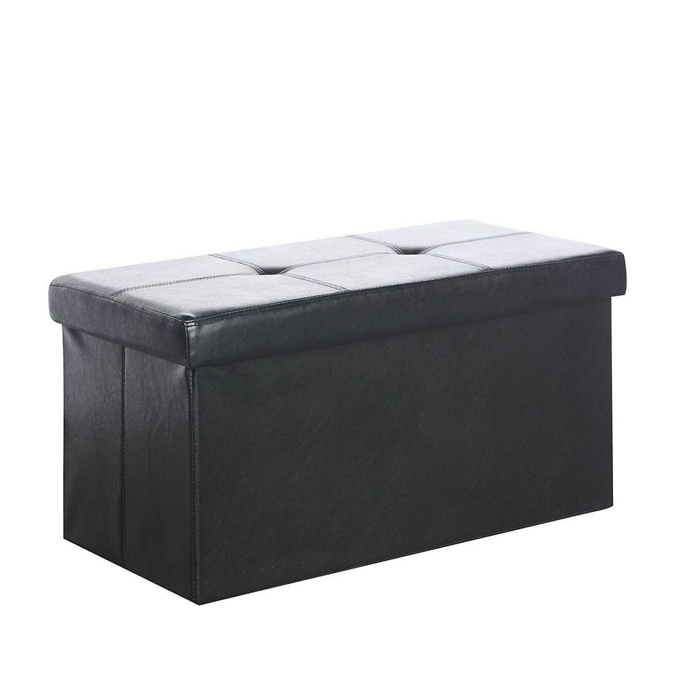 Corliving Pouf Denali, 28po x 15po x 15po, noir
