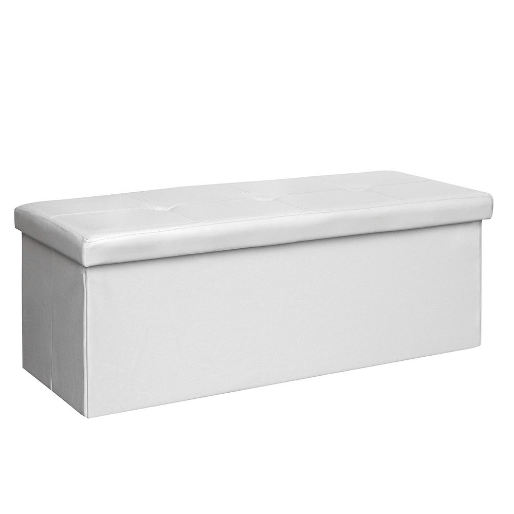 Corliving Denali 42-inch x 16-inch x 16-inch Ottoman in White