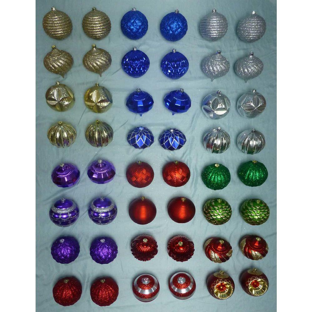 Home Accents Boules de Noël variées, 150 mm