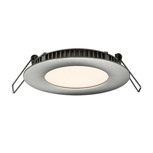 Ultraslim 3-inch Recessed Round LED Panel Light in Satin Nickel - ENERGY STAR®