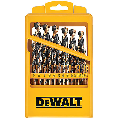 29 Pc Black Oxide Drill Bit Set