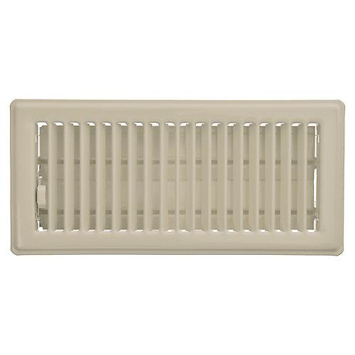 4 inch x 10 inch Floor Register - Fog