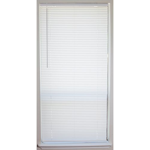 23x45 Light Filtering Cordless Vinyl Blinds  White