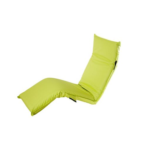 Adjustable Lounge Chair in Lime Green