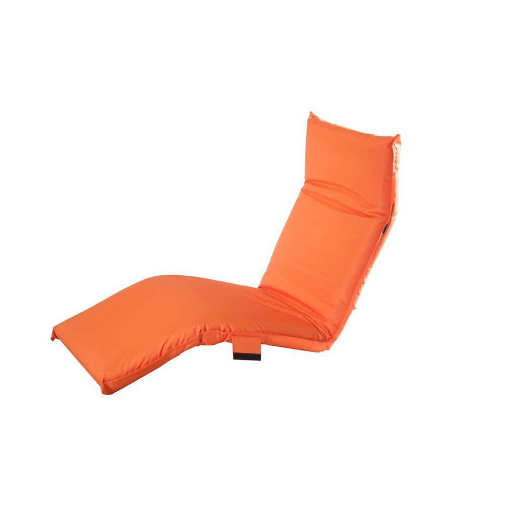 Sunjoy Adjustable Lounge Chair in Orange
