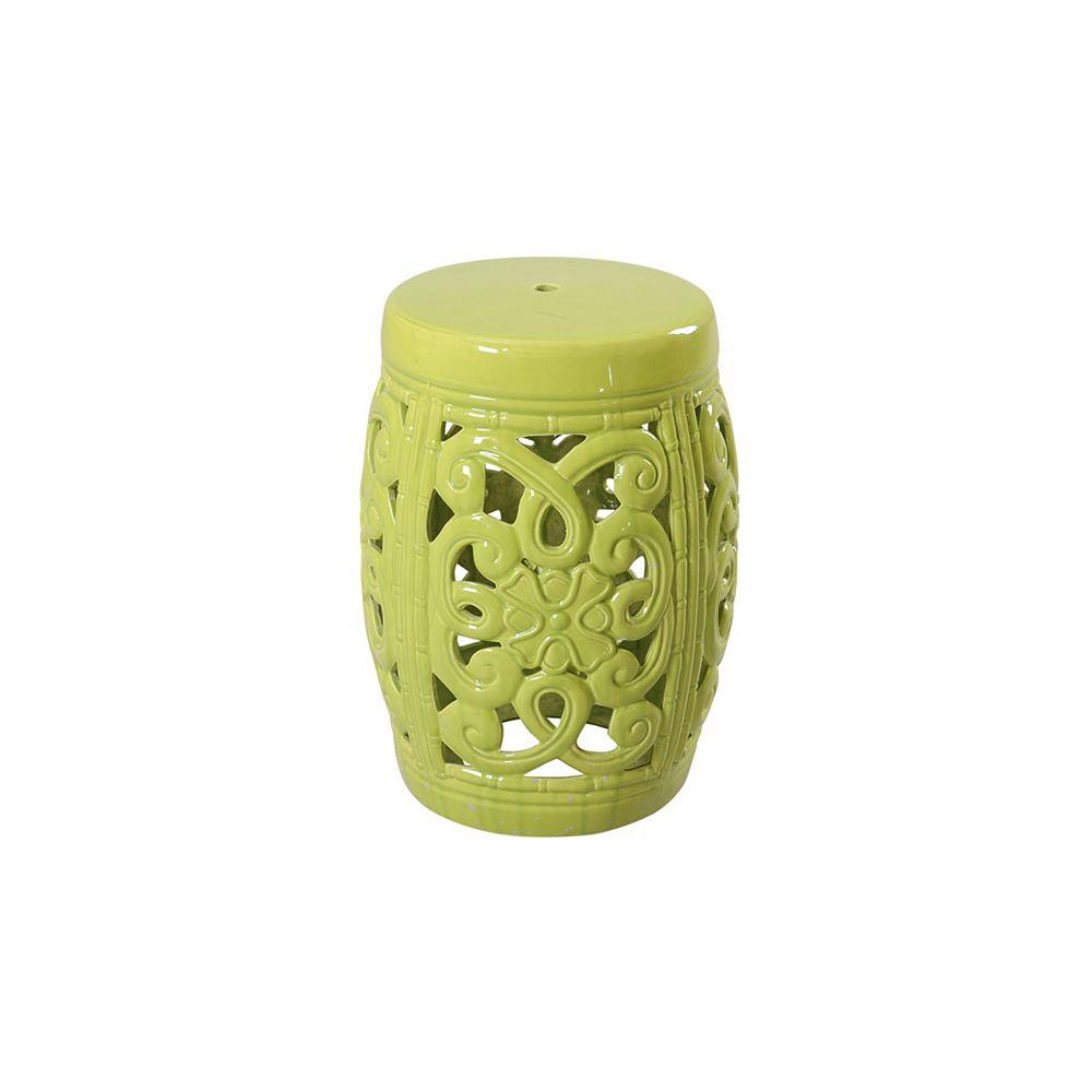 Sunjoy Céramique jardin Tabouret de Lime Green