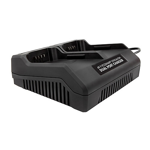 Snow Joe et Sun Joe Double chargeur iCHRG40-DPC les batteries au lithium-ion EcoSharp