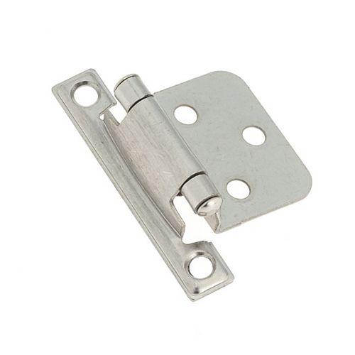 Semi-Concealed Self-Closing Hinge - Brushed Nickel
