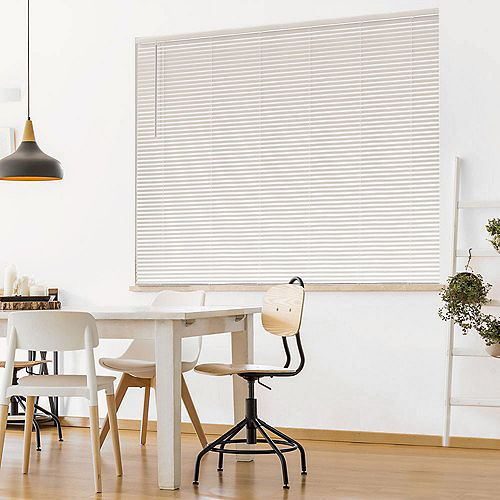 Cordless 1 3/8-inch Room Darkening Vinyl Cut Blinds White 54-inch x 72-inch (Actual width 53.625-in)