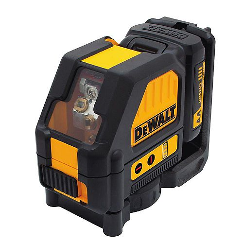12V MAX Lithium-Ion 165 ft. Red Self-Leveling Cross-Line Laser Level with (AA) Starter Kit & Case