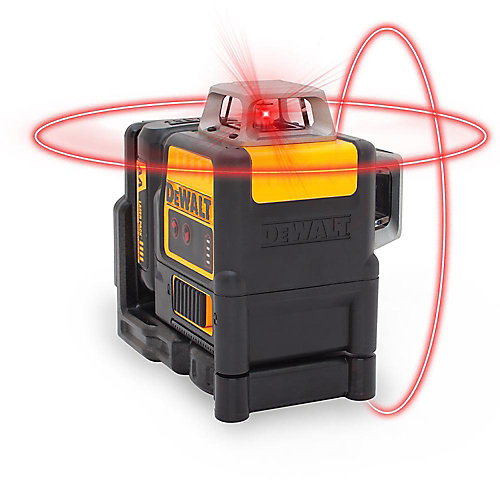 150 ft. Red Self-Leveling 2 X 360 Degree Line Laser Level with (4) AA Batteries & Case