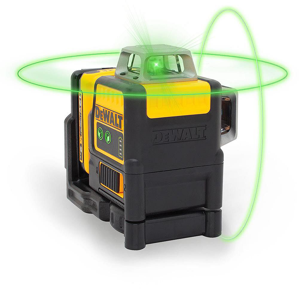 DEWALT 12V MAX Li-Ion 165 ft. Green Self-Leveling 2 X 360 Degree Line Laser w/ Battery 2Ah, Charger, & TSTAK Case