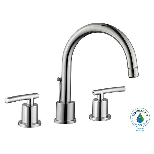 Dorset 8-inch Widespread 2-Handle Bathroom Faucet in Chrome