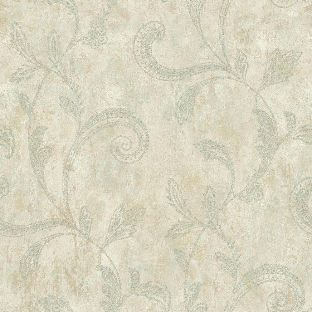 York Wallcoverings Sapphire Oasis Paisley Trail Wallpaper