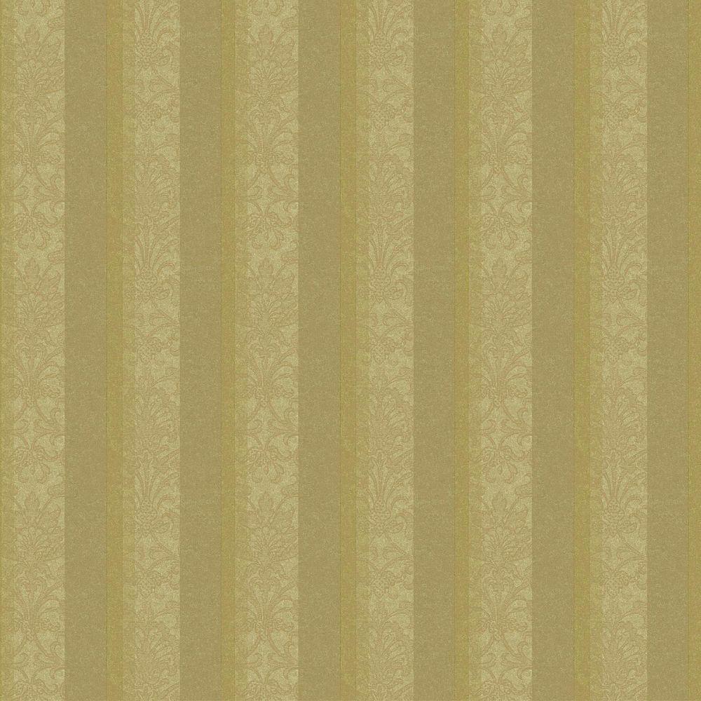 York Wallcoverings PAPIER PEINT DAMASSÉ À BANDES MÉTALLIQUES ST. AUGUSTINE