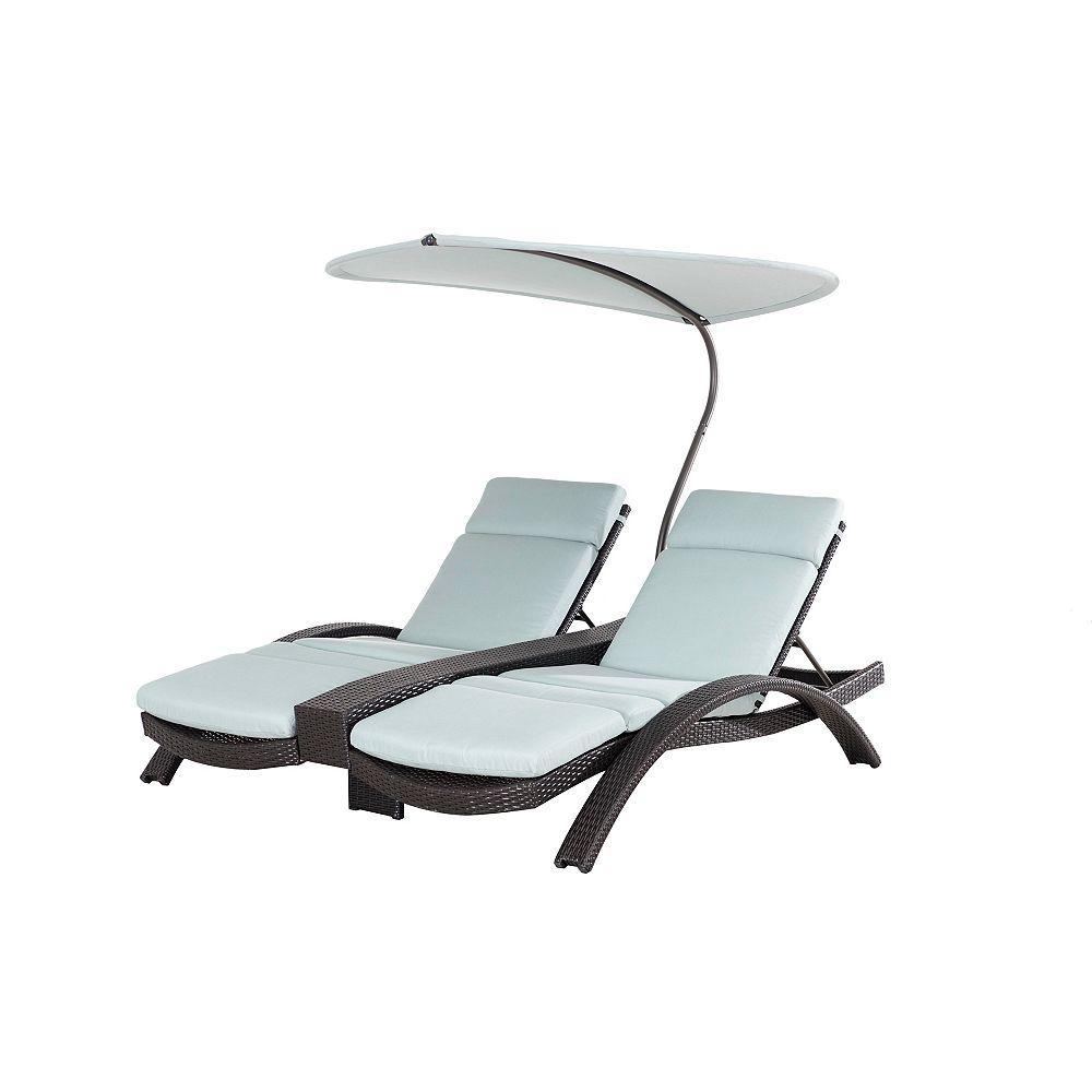 Sunjoy Lotus Sling Patio Double Lounge Chair