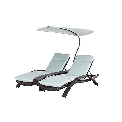 Lotus Sling Patio Double Lounge Chair