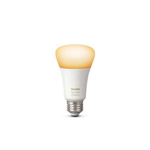 Philips Système déclairage sans fil personnel Philips Hue DEL A19 Ambiance blanche - extension ampoule.- ENERGY STAR®