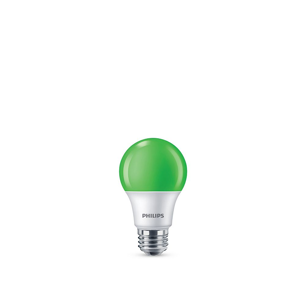 Philips LED 60W A19 Green Non Dimmable