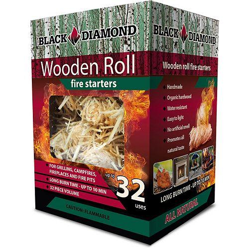 Black Diamond Wooden Roll Fire Starters (32-Pack)