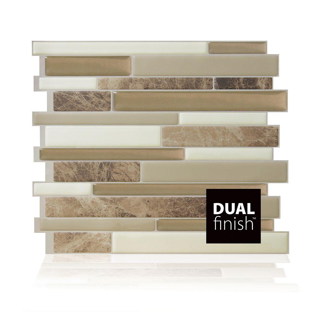 Smart Tiles Milano Sasso 11.55-inch W x 9.65-inch H Peel & Stick Decorative Mosaic Wall Tile Backsplash (6-Pack)