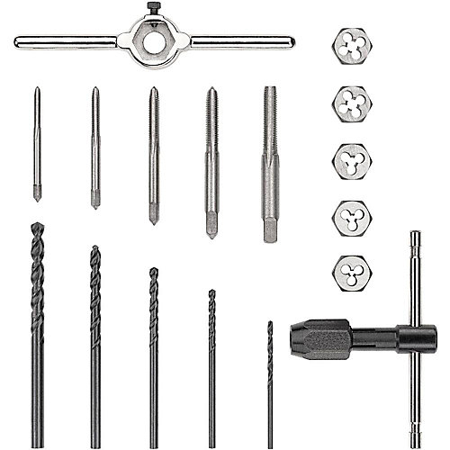 Metric Steel Tap and Die Set (17-Pieces)