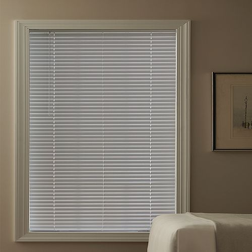 Hampton Bay Cordless 1 3/8-inch Aluminum Blind White 36-inch x 72-inch (Actual width 35.625-inch)