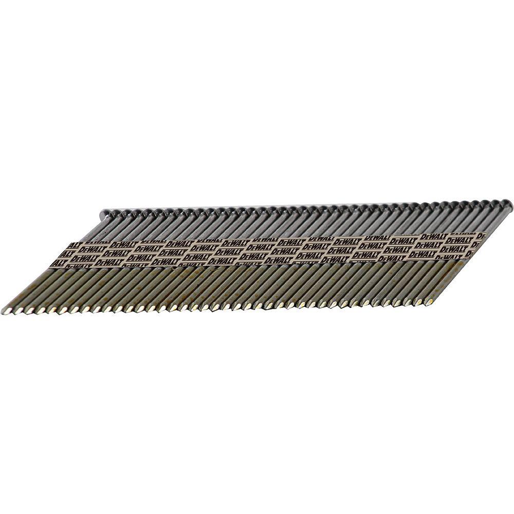 DEWALT Clous à Bande de Papier à Tête Ronde Décentrée Lisse et Brillante de 51 x 3.3mm DPT-6D113FH