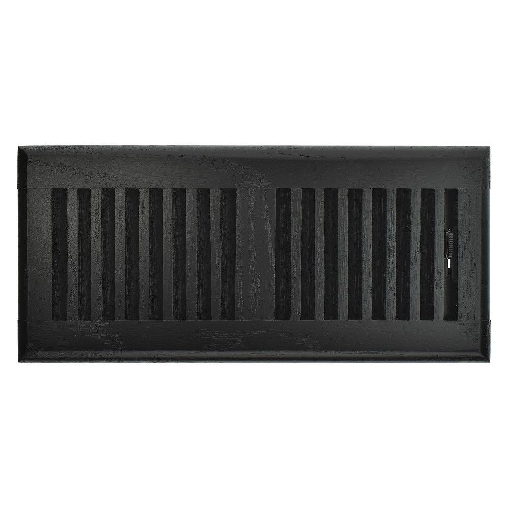 Hampton Bay Registre de plancher de 4 po x 10 po - Chêne noir