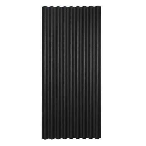 Panneau de toiture asphaltée ondulée noire Ondura 36po x 79po