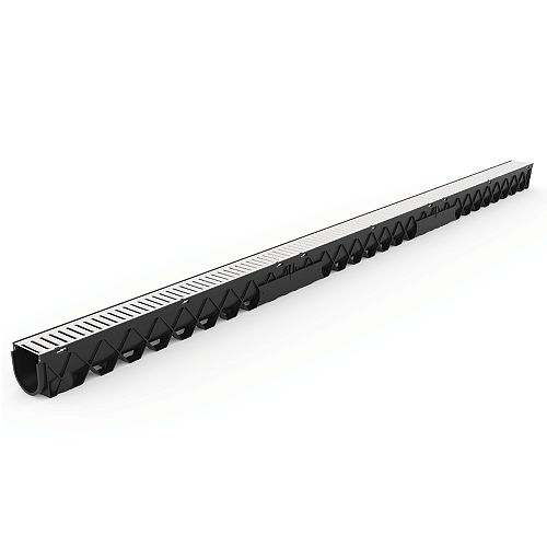 10 ft. Storm Drain Deep Channel Drain Series with Stainless Steel Grate