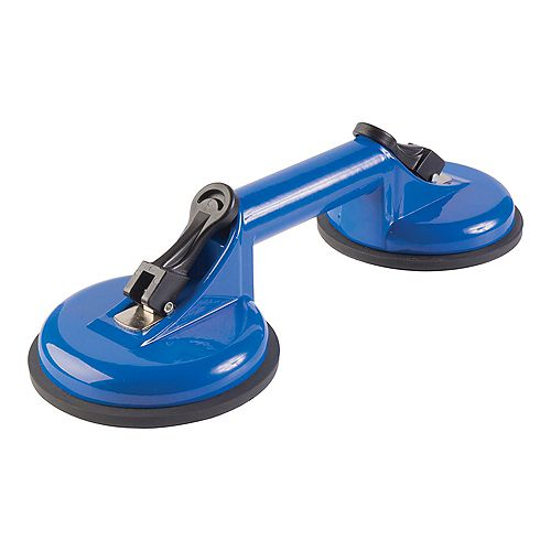 Double Suction Cup for Handling Large Glass and Tile