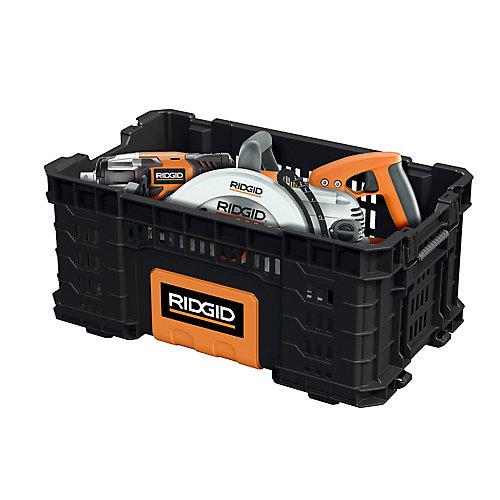22-Inch Pro Box Tool Bin in Black