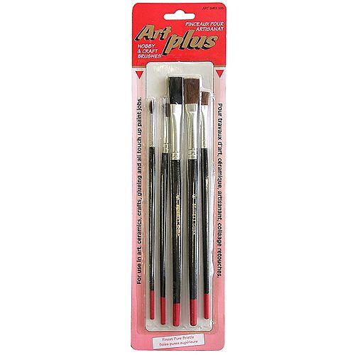 BENNETT Mixed, Hobby & Craft Brushes (5-Pack)