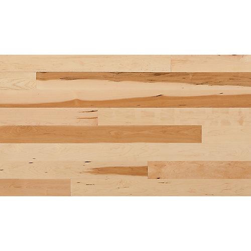 Plancher, bois massif, 3 1/4 po x 3/4 po, Érable naturel, 20 pi2/boîte