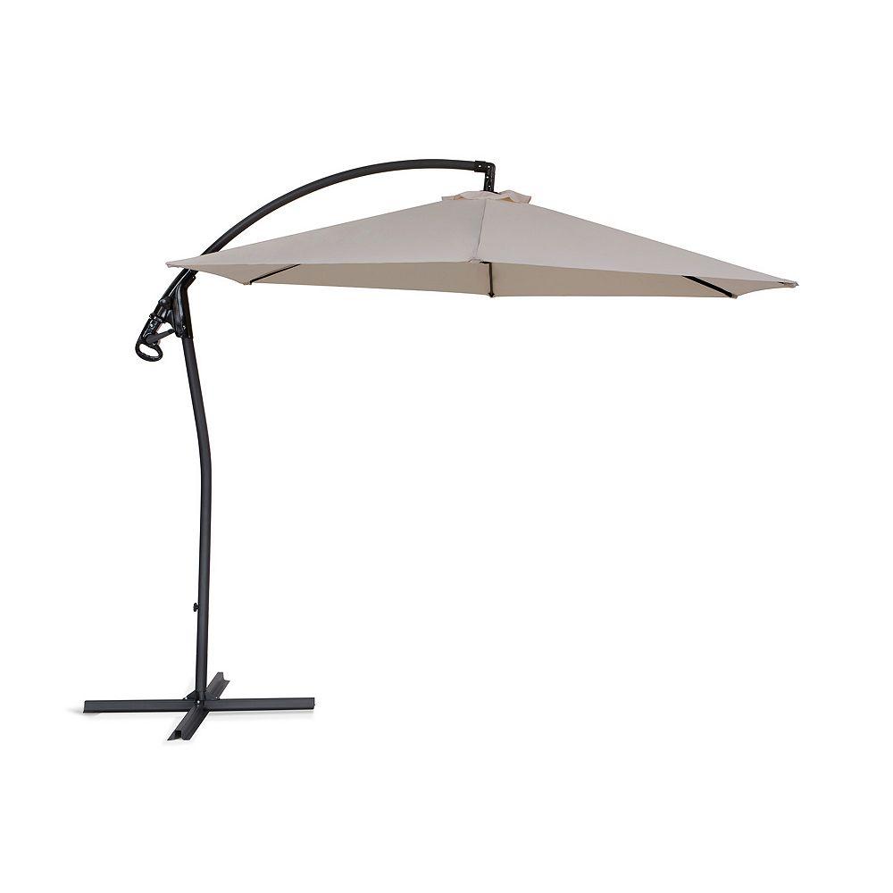 Beliani Cantilever Garden Parasol - Side Post Umbrella - ASTI II Café latte