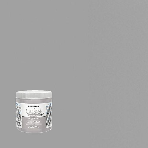 Chalked Ultra Matte Paint In Aged Grey, 236 Ml