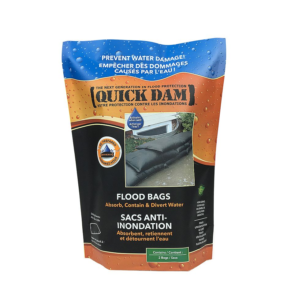 Quick Dam Quick Dam Water Activated Flood Bags (2-Pack)