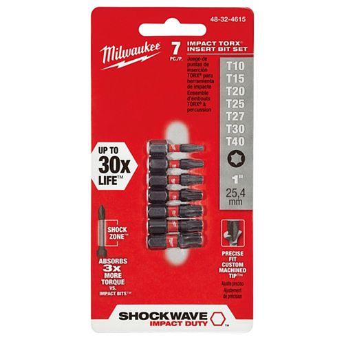 Milwaukee Tool 7 Pc Torx Insert Bit Kit