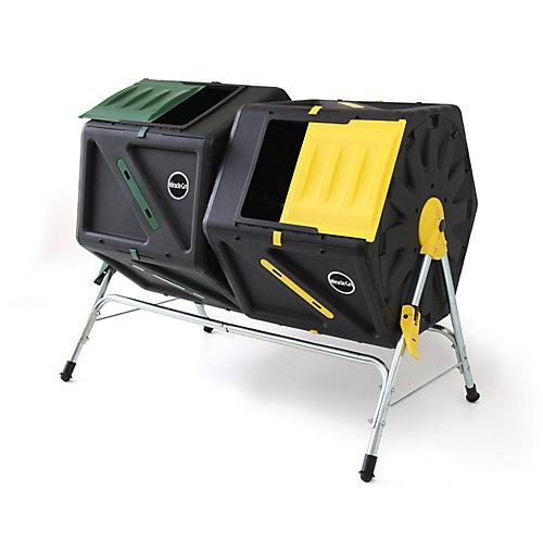 Miracle-Gro Composteur à culbutage avec deux compartiments de 105 litres