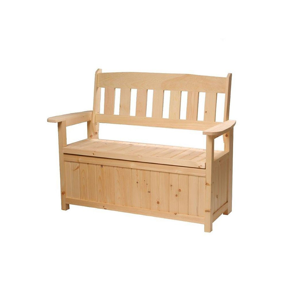 Country Comfort Chairs Cape Cod Garden Storage Bench The Home Depot Canada