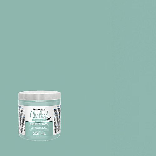 Chalked Ultra Matte Paint In Serenity Blue, 236 Ml