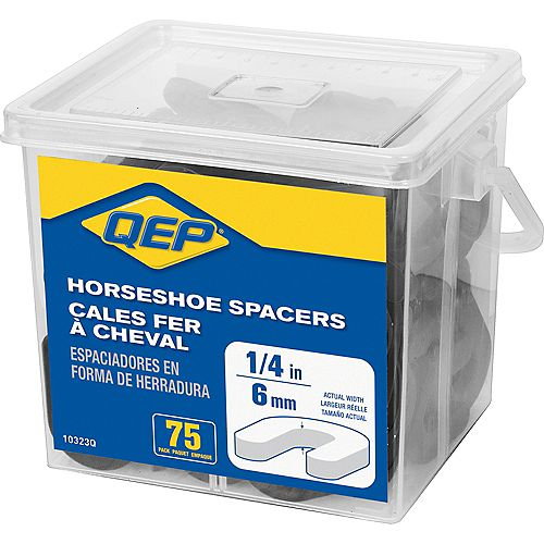 1/4 inch Horseshoe Tile Spacers (Pail of 75)